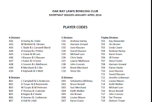 Personal Codes Page 3