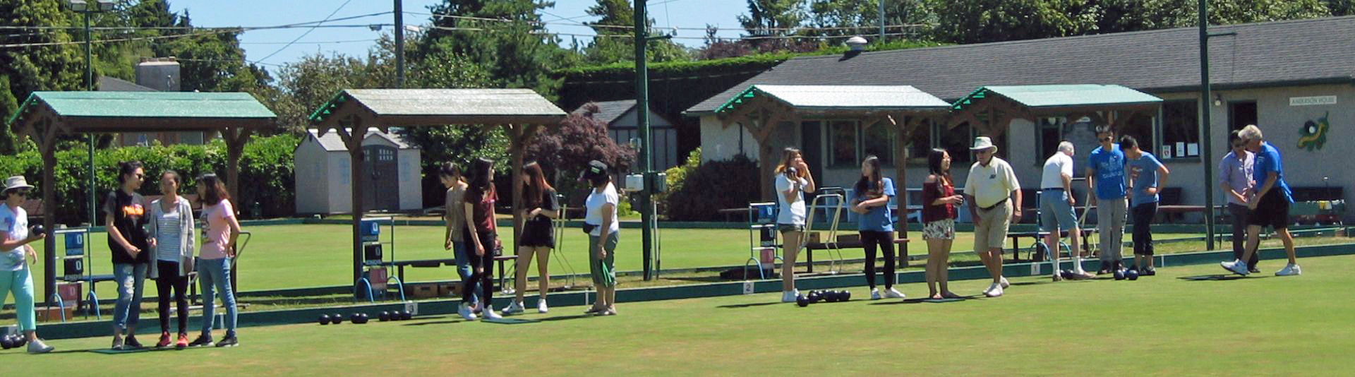 Coaching for Camosun College students at Oak Bay Lawn Bowling Club